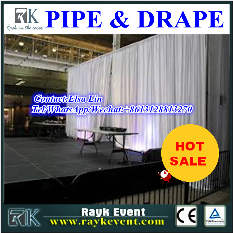 Wholesale aluminum backdrop stand pipe drape adjustable wedding pipe and drape backdrop/pipe and drape from China