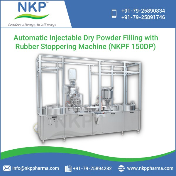 Low Maintenance Dry Powder Filling with Rubber Stoppering Machine