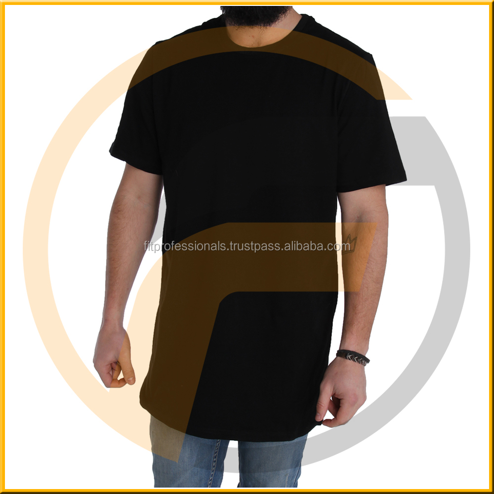 elongated t shirts - short front and long back fish tail Elongated t shirts - Design big blank tall t shirts