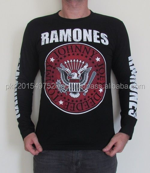 Ramones Print Long Sleeve T Shirt Casual