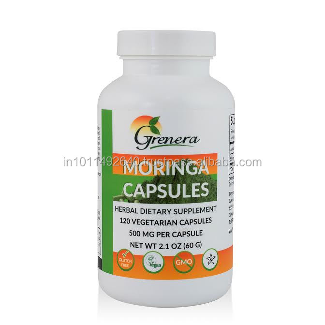 Free Sample Moringa Capsules Wholesale / Moringa Oleifera Leaf Powder Capsules