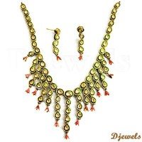 Polki Meena Necklace sets, Kundan Polki Bridal Necklace Sets, Kundan Diamond Polki Jewellery
