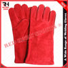 Red Long Cow Split Tig Welding Gloves, Heat Proof, Gives Maximum Hand Protection