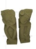 Set of 2 Stone Carving Sculpture Bali Prince and Princess