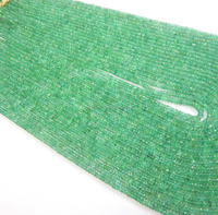 Natural Emerald faceted rondelle Beads