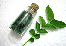 Green Jade Chips Bottle : Traditional Gemstone Healing Bottles