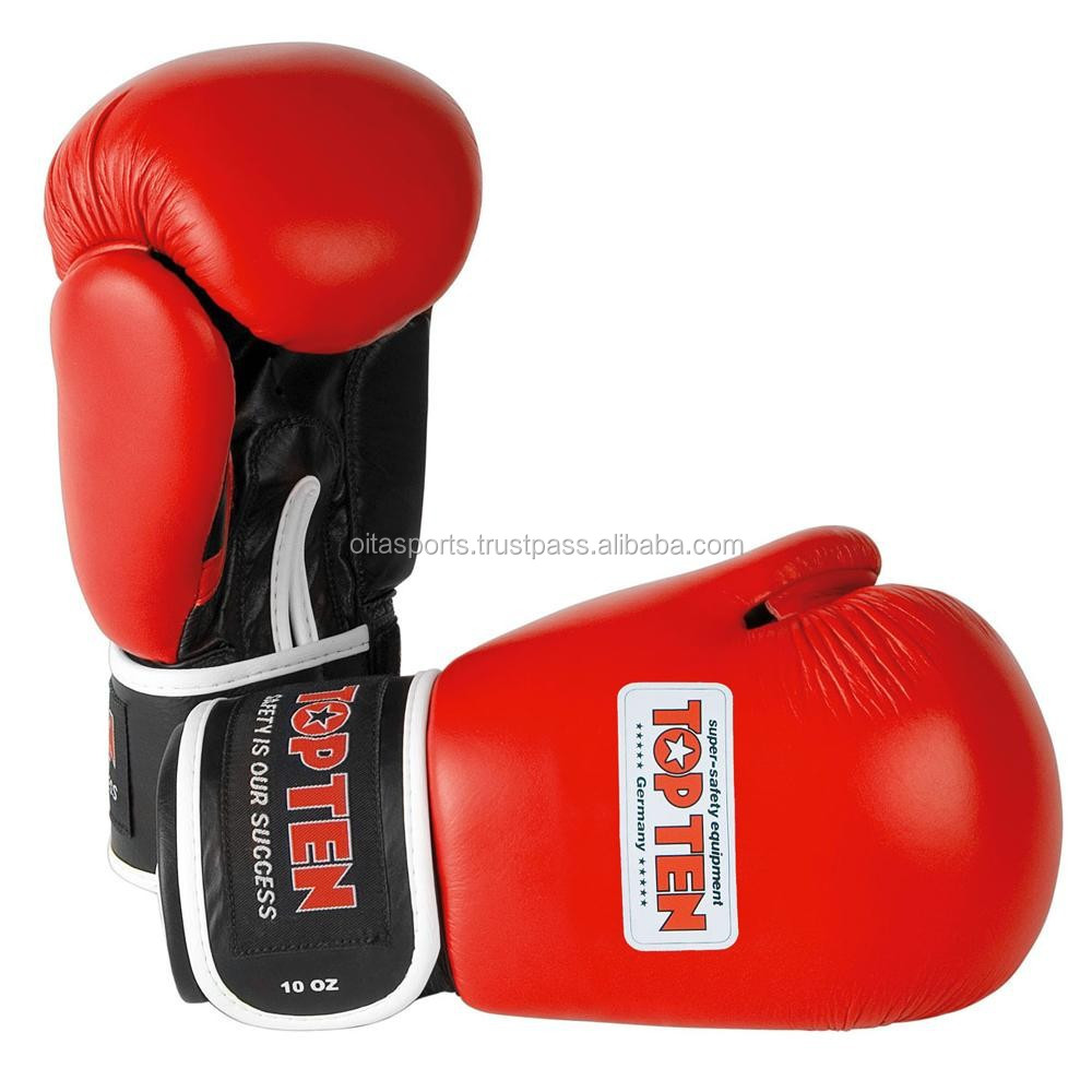 TOP TEN AIBA BOXING GLOVE: RED