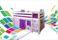 WOODEN BED FUNKY, KID bunk bed BED chhildren colours