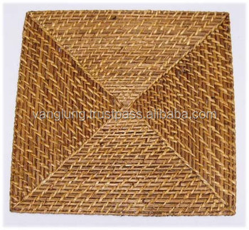 Square Bamboo rattan placemats