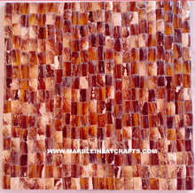 Indian Red And Brown Mother Of Pearl Tile