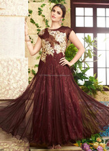 Ladies long evening party wear gown - Gown latest fashion - Gown shopping online in india