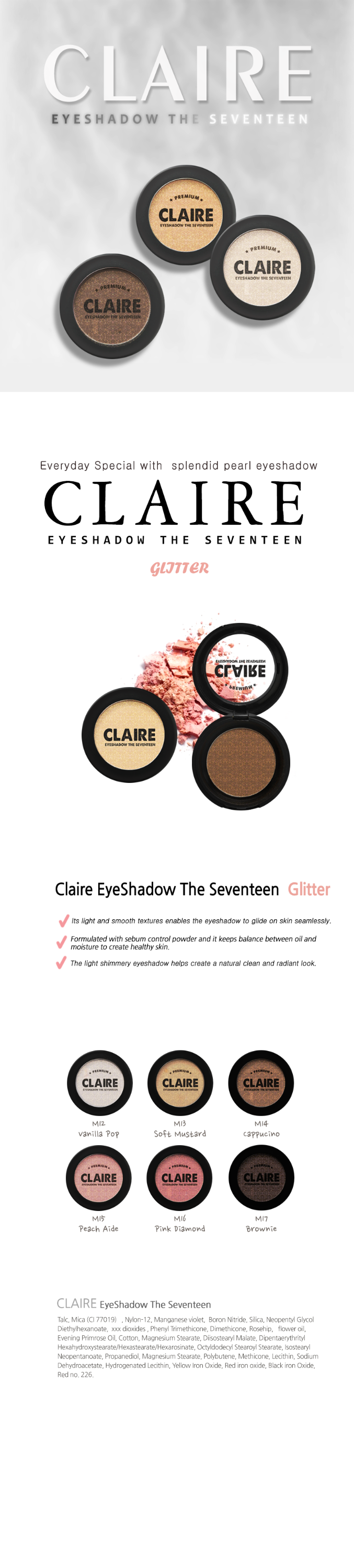 CLAIRE - Eyeshadow The Seventeen Glitter