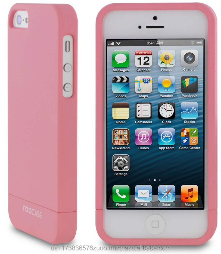 SL-R series Slider shell case with polyurethane matte coating for iPhone 5/5s (not compatible with 5c) roocase (Pink)