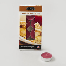 CANDLE TEALIGHT 8PK WARM APPLE PIE BOXED #731-WA