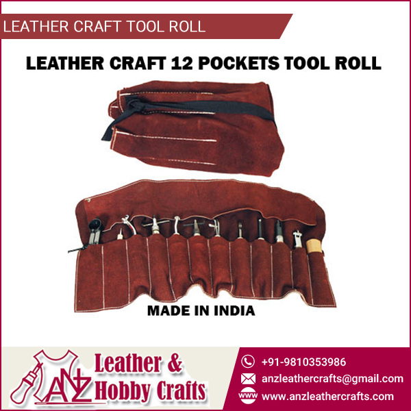 Custom Made Leather Craft Tool Roll at Market Leading Price