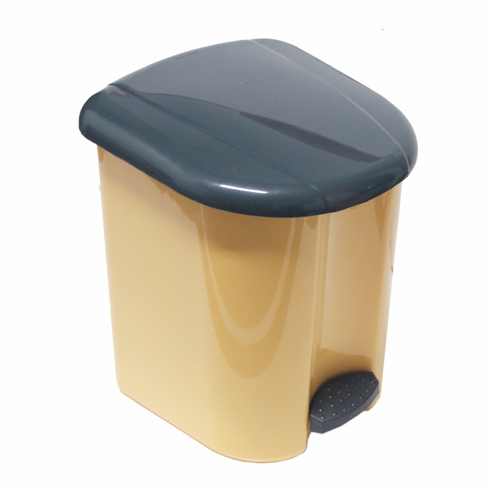 Hot sales: Recycle Bin with pedal, fashion design, snugly keeps your house clean I0416-Yellow
