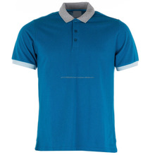 Cheap good quality different color collar polo shirt
