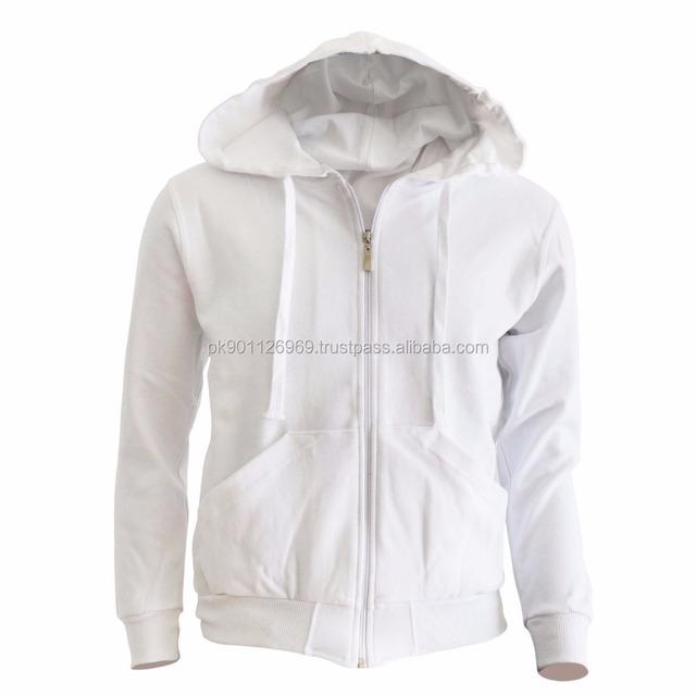 cheap wholesale zipper white hoodie men