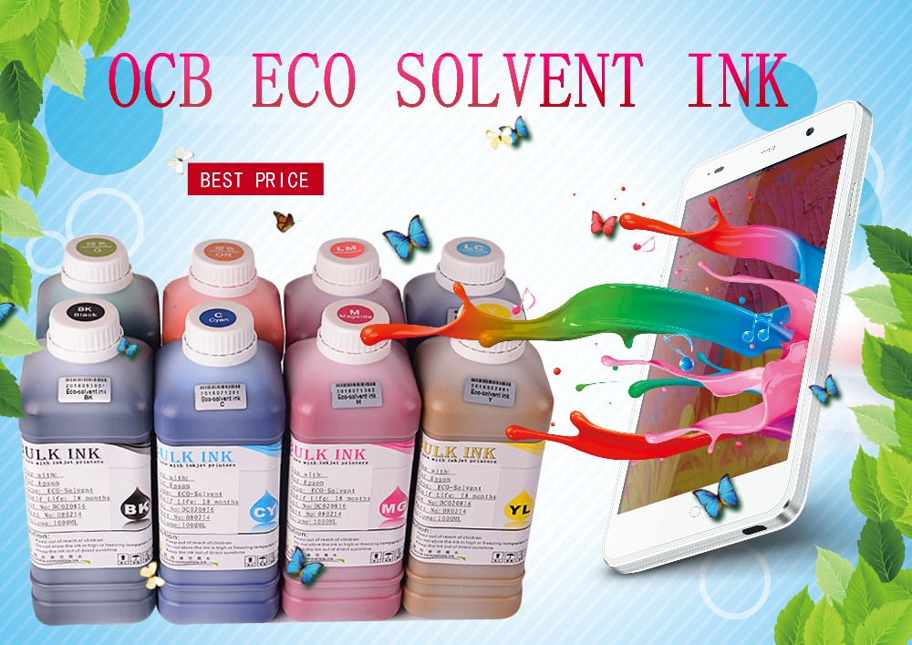 Ocbestjet Eco Solvent Ink For DX5 DX7 Printer Solvent Based Ink