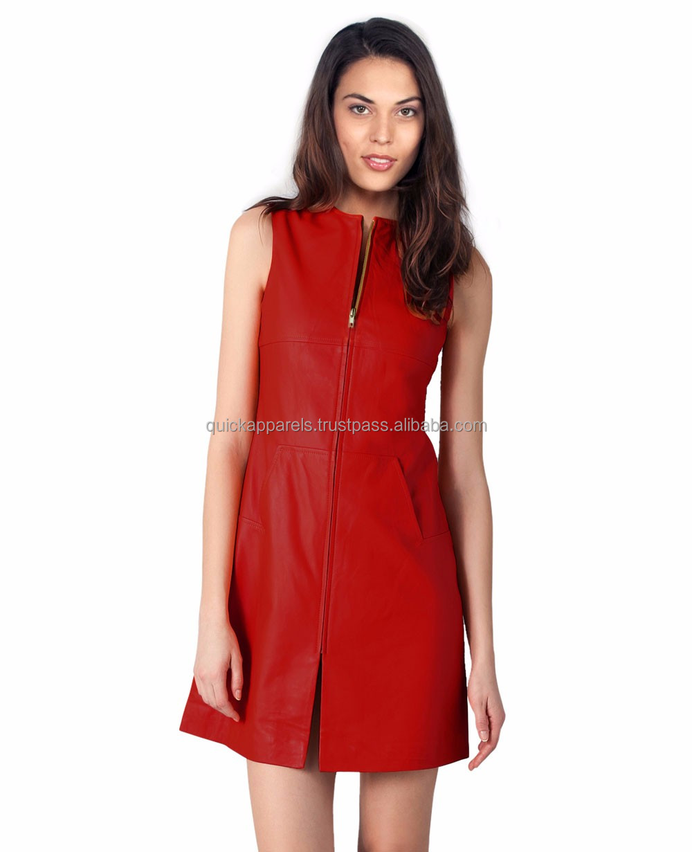 Custom made western style sleeveless plain sexy metal buckle fancy suede dress for women