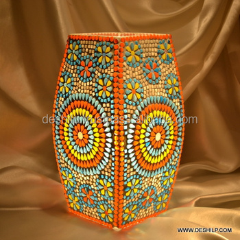Mosaic Glass Colors Strip Table Lamp Home Decor