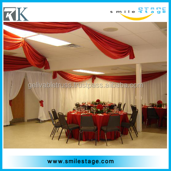 Factory price upright and ceiling drape fabric