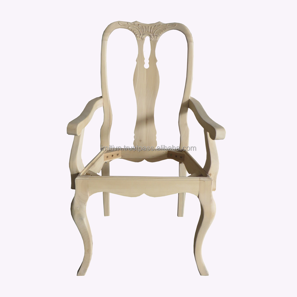 CHAIR FRAME MADE IN VIETNAM UNFINISHED WOOD FURNITURE WHOLESALE