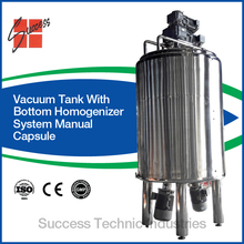 MVHT1000 Mixer Tank with stirrer and bottom homogenizer mixer for cream making/lotion cosmetic mixer