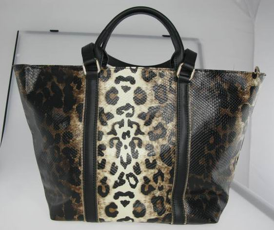Leopard Print Leather High Quality Handbag China Wholesale