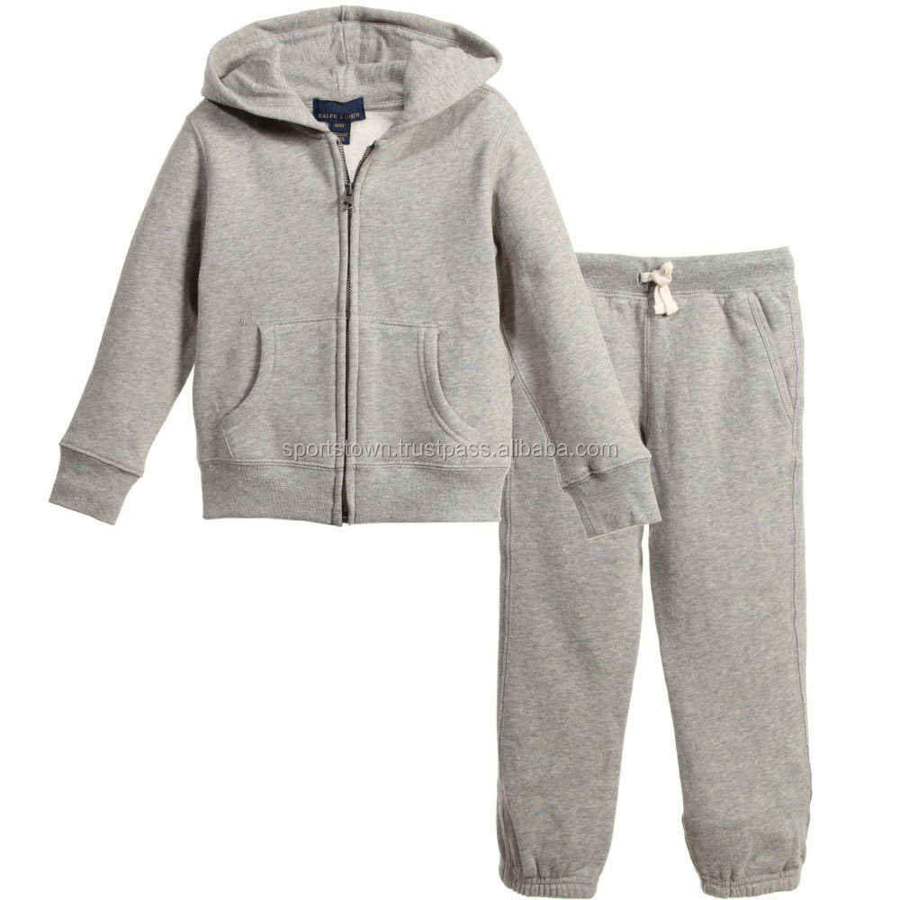 custom made Latest style wholesale Track Suits for baby boy100% cotton fleece