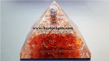Orgone Pyramid for healing and metaphysical use | Red Carnelian Orgone Pyramid