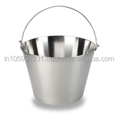 Stainless Steel Pet Pail Milk Serving Bucket for regular use