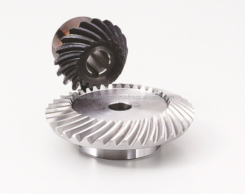 Hardened spiral bevel gear Module 1.5 Carbon steel Ratio 3 Made in Japan KG STOCK GEARS