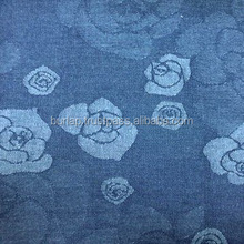 Jacquard Camo Print Denim Blue Fabric