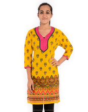 Women indian fashion wear cotton printed design pattern beautiful tunic kurtis & blouses office wear