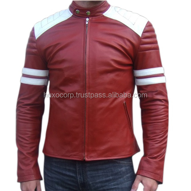 motorcycle men's leather jacket, new arrival pu leather windbreaker man bomber jacket, usa