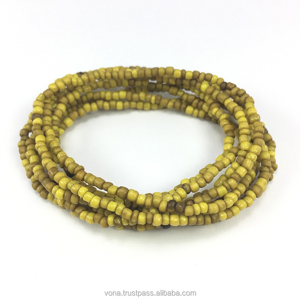 Yellow Seed Glass Loose Beads for Jewelry Making Fashion Handmade DIY Beads Wholesaler Indonesia