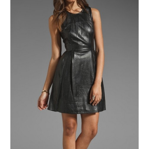 real leather women leather dress/ladies leather dress /leather hot wear/stylish leather women wearing