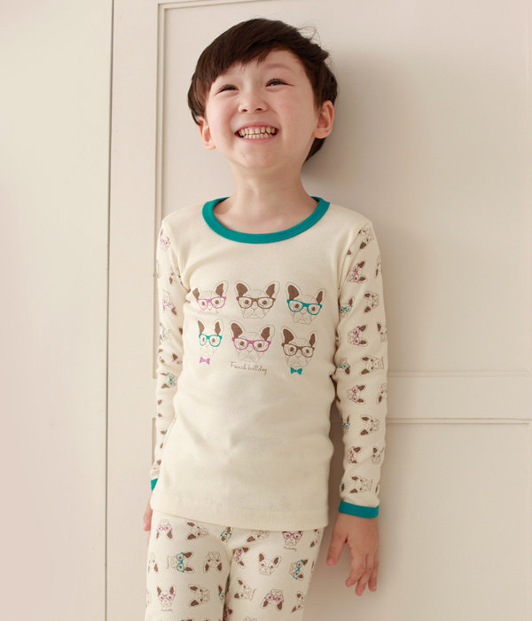 Withorganic/organic long sleeved pajama set/sleepwear/homewear