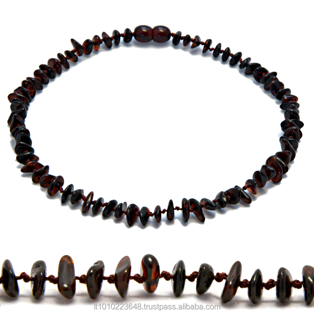 Cherry natural Baltic amber teething necklace made in Lithuania