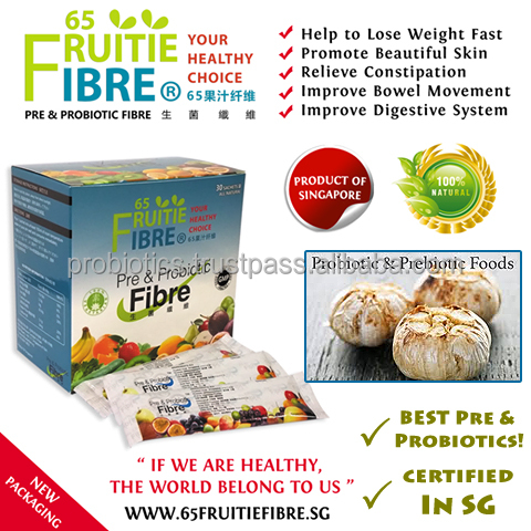 Prebiotics And Probiotics Foods - 65FruitieFibre Probiotics - 10 + 1 Box FREE Combo Package - Wholesale