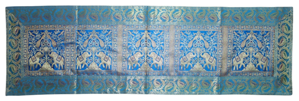 Unique Brocade work Silk Table Cloth for Wedding Wholesale Table Cover