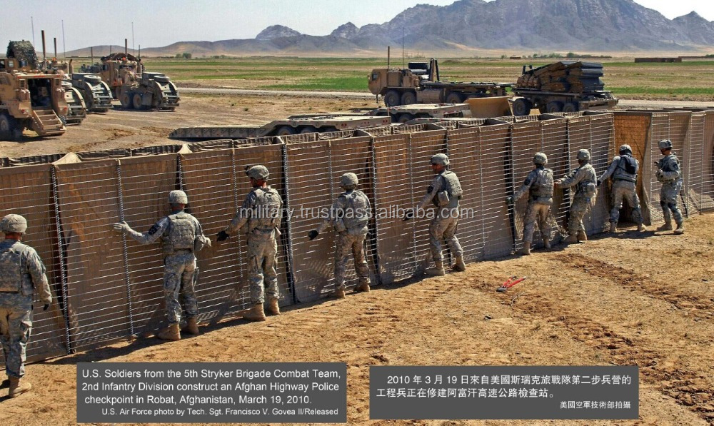 Hesco Barriers military barrier Flood Protect Barrier defense wall/Flood barrier safety barrier fence