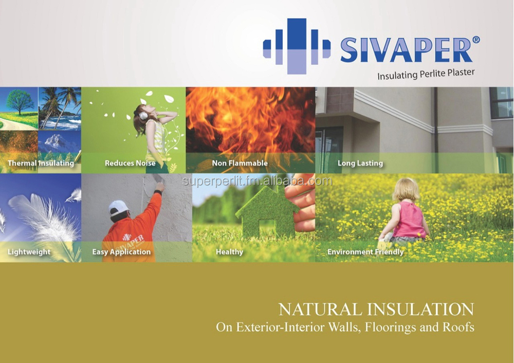 SIVAPER Thermal Insulating Perlite Plasters - Made in Turkey ( please email to info@tasper.com.tr )