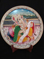 Marble Thali Plate Handicraft Religious Gift Decor Rajasthan Gallery Hindu God Puja Ganesha Miniature Painting