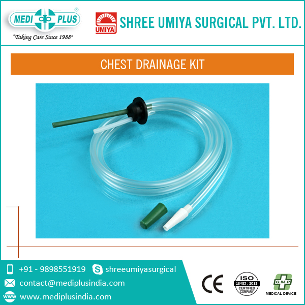 medical types of drainage pipes chest tube kit