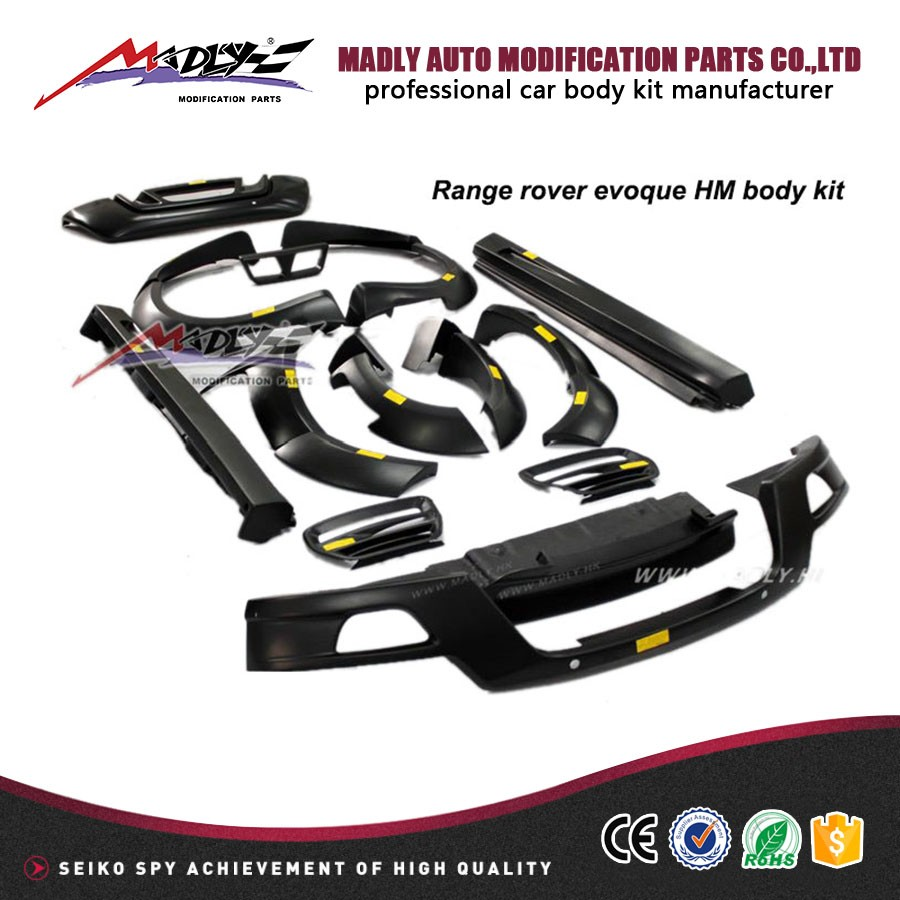 Car body parts for rang e rover HM style full car wide body kit for Rang e rover evoque 2012-2014