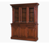 Mahogany Book Case Aust 3 Dr Straight Indoor Furniture