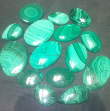 Beautiful natural malachite semi precious loose gems stones