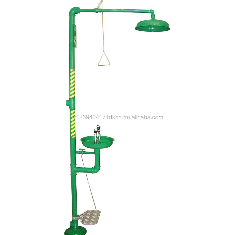 Galvanised Steel Safety Shower with Eyewash Unit EN1514 & ANSI Z358 Certified